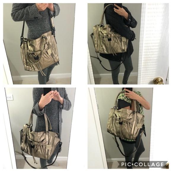 Burberry leather gold shoulder bag